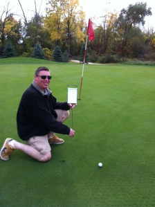 "John Newland won a Gift Card for ""closest drive to the pin"""